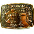 1981 National Scout Jamboree Virginia Belt Buckle 11012013
