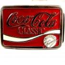 Silvertone & Red Coca Cola Classic Belt Buckle 11262013