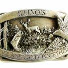 1983 Illinois Life & Land Together Belt Buckle by Siskiyou 81914