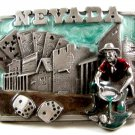 1982 State of Nevada Enameled Belt Buckle by Siskiyou