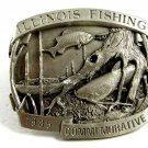 1985 Illinois Fishing Commemorative Belt Buckle by Bergamot 1022314