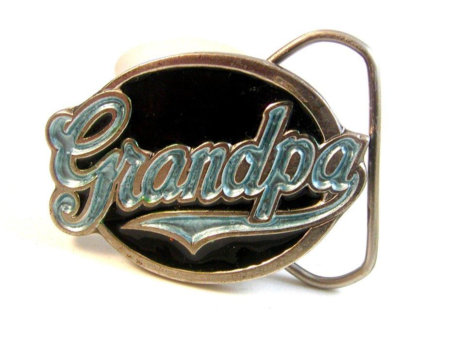 1987 Grandpa Belt Buckle Made in USA