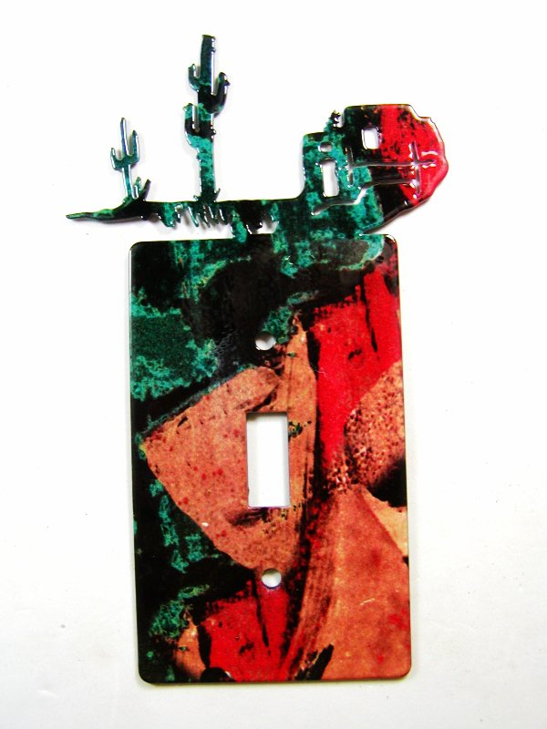 Pueblo Single Light Switch Cover Plate by Steel Images USA 030515A