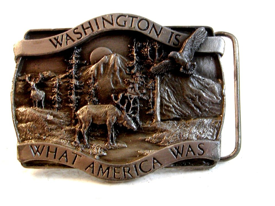 1981 Bergamont Washington is What America Was Belt Buckle