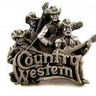 1981 Country Western Band Belt Buckle by Bergamont