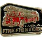 USA Fire Fighters Enameled Belt Buckle Unmarked 092614