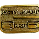 Safety & Quality First Brass Belt Buckle 82114