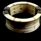 Silvertone & Bone Tribal Banjara Gypsy Indian Bangle Bracelet
