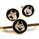 Comedy Tragedy Theatre Cufflinks & Matching Pin by Creation House
