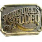 1981 Raleigh Lights Solid Brass Belt Buckle Unmarked 092914