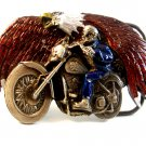 1993 GAP American Eagle & Motorcycle Belt Buckle