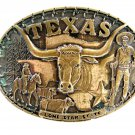 Texas Lone Star State Solid Brass Belt Buckle By Award Design