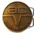 ac Houston Texas Belt Buckle
