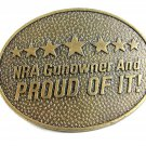 NRA Gunowner & PROUD OF IT Belt Buckle by Norman Foundry Made in USA 82014