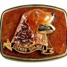 1979 Cocker Spaniel Enameled Belt Buckle 51514 by Raintree
