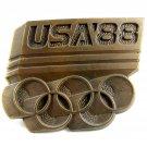 1988 USA Olympics Belt Buckle 82014