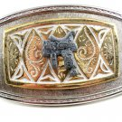 Western Silvertone Cowboy Saddle Belt Buckle #102113p