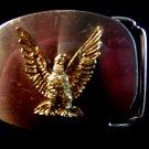 Eagle belt buckle two tone