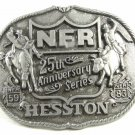 1983 National Finals Rodeo NFR 25th Anniversary Belt Buckle By Hesston 121614
