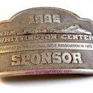 1999 National Rifle Association NRA Whittington Center Sponsor Belt Buckle