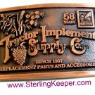 1995 Tractor Implement Supply Co. Belt Buckle Limited Edition