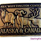 NRA Whittington Center Alaska & Canada Belt Buckle