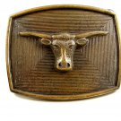 Western Cowboy Longhorn Belt Buckle