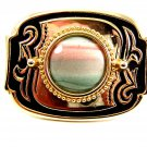Cowgirl Western Pink Green Agate Belt Buckle 4102014