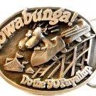 1990 Siskiyou Cowabunga! Do The Puyallup Belt Buckle