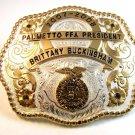 2007 Palmetto FFA President Belt Buckle by Montana Silversmiths