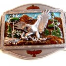 1993 Bald Eagle with Snake Enameled Belt Buckle by Brew City Collectibles
