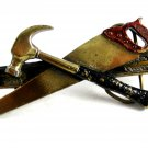 1981 Hammer Saw Level Belt Buckle By Great American Buckle 62614