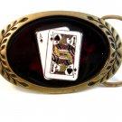 Ace & Jack of Spades Solid Brass Belt Buckle