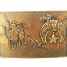 1978 Masonic Shiner Jewel Of The Order Bronze Buckle by Harry Klitzner