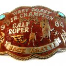 1984 Calf Roper West Coast Jr. Champion Belt Buckle Jace Abatti