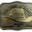 Your Brand of Country KELT Harlingen Texas Belt Buckle By RJ 101514