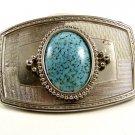 Western Cowboy Silvertone Blue Belt Buckle 10272013bc