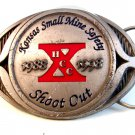 1988 - 1989 Kansas Small Mine Safety Shoot Out Belt Buckle
