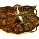 1980 Lone Star Texas Belt Buckle by Great American Buckle Co