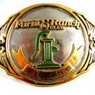Houston Farm & Ranch Club Belt Dr. Bill Watkins Buckle By ADM 61914