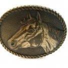 1981 Horse Head Western Cowboy Belt Buckle Signed Jason ADM