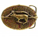 1982 Bow Hunters Have Longer Shafts Belt Buckle by Great American Buckles
