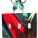 Butterfly Triple Light Switch Plate by Steel Images Made In USA 51515
