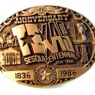 Official Texas Sesquicentennial Belt Buckle Limited Edition