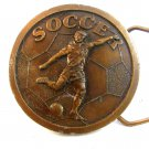 1978 Indiana Metal Craft Soccer Brass Belt Buckle