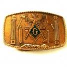 1981 Masonic Bronze Belt Buckle by Harry Klitzner