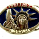 Statue of LIBERTY 1886 * 1986 Enameled Belt Buckle Made In USA 092914