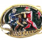 1982 Baseball Player Enameled Belt Buckle 51514 Great American Buckle Co.