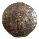 Vintage Oriental 950 Silver Bamboo Monogrammable Compact 72517