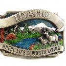 1983 Idaho Where Life's Worth Living Belt Buckle By SISKIYOU 22417